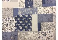 PROSTÍRÁNÍ NA STŮL - 40x30cm,  modrý patchwork růže